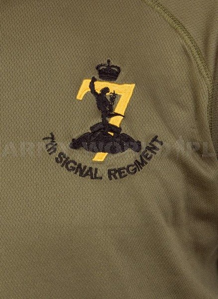 Thermoactive T-shirt Coolmax  With Badge The Signal Regiment Oliv Used