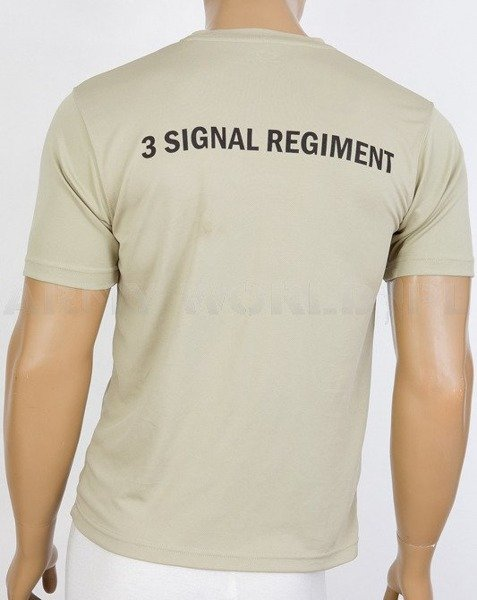 Thermoactive T-shirt Coolmax  With Sign 3 Signal Regiment  Khaki Used