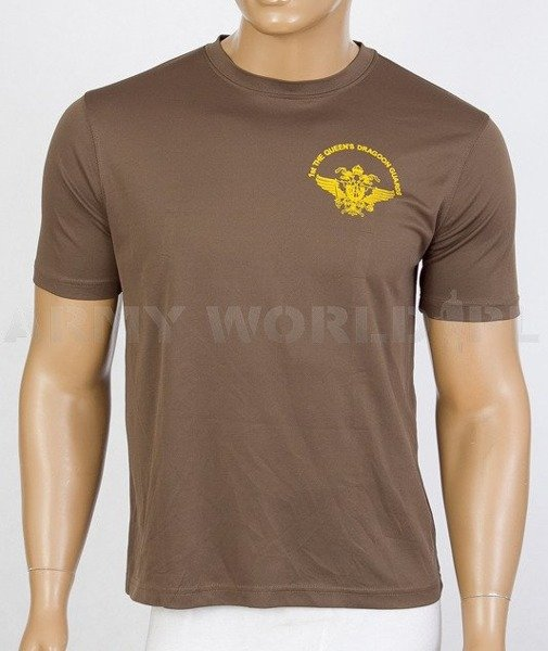 Thermoactive T-shirt Coolmax  With Sign st The Queen's Dragoon Guards Brown Used