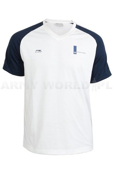 Thermoactive T-shirt Li-ning White/Navy Blue Used