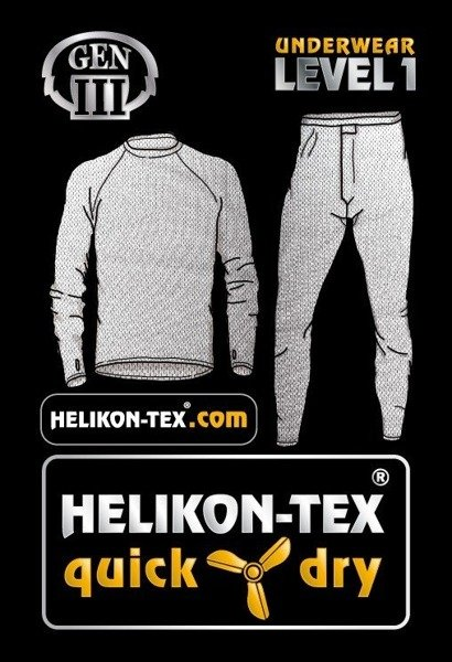 Thermoactive underwear Level 1 III Gen. Helikon Oliv - Set - shirt + drawers