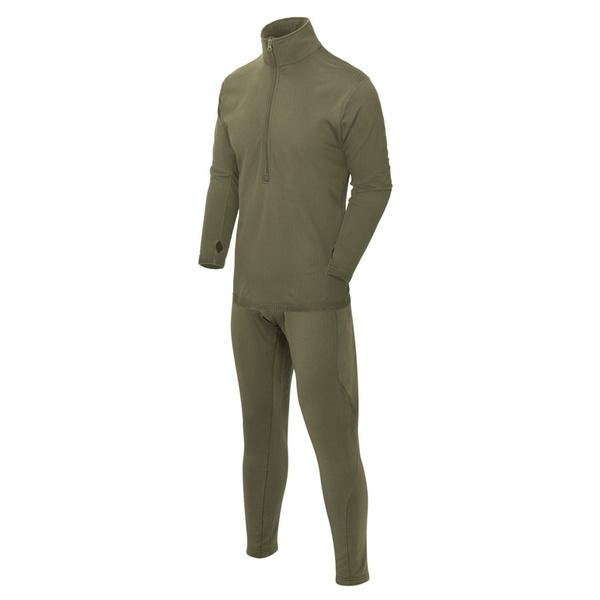 Thermoactive underwear  Level 2 III Gen. Helikon  OLIV- set -  shirt + drawers