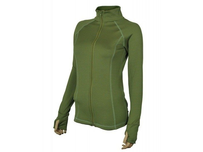 Thermoactive zipped shirt REGIS women's Oliv Green STOOR New