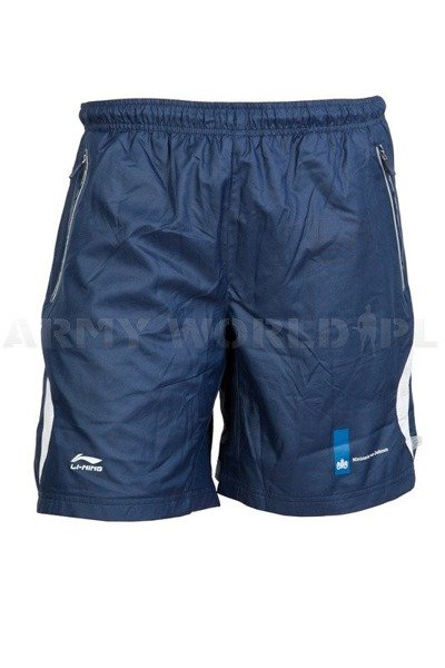 Training Sport Men's Shorts Li-ning Oryginal Granatowe Used