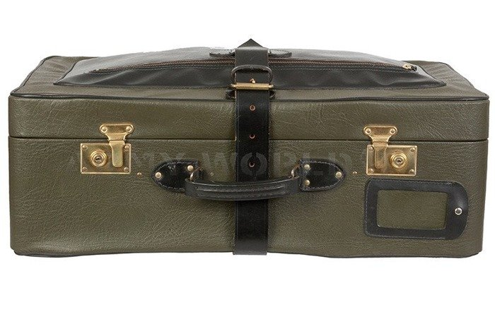 Travel Suitcase Of Polish Army Officer Original Oliv/Black Used