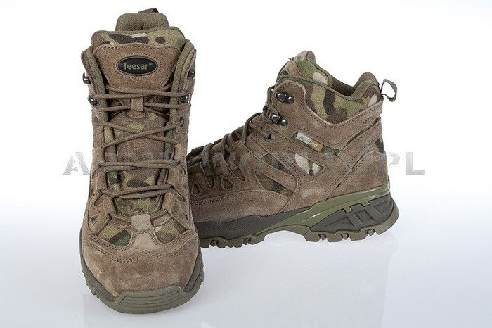 Trooper Leather Boots Camogrom New
