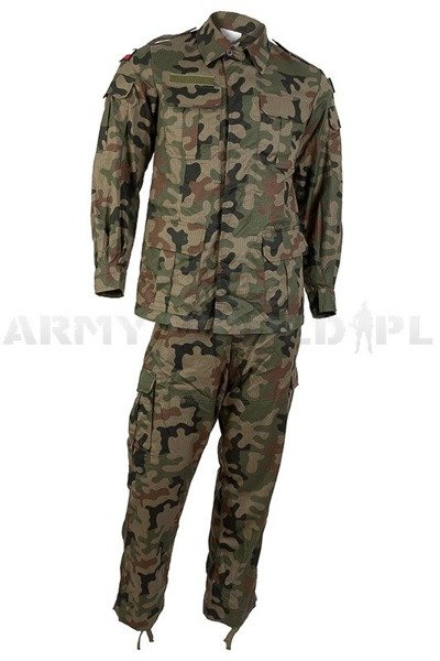 Tropical polish military uniform  Wz.93 124 Z/MON Set Shirt + Pants - Original - Demobil - SecondHand