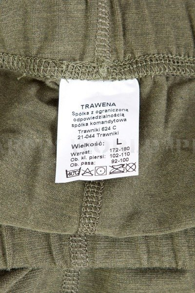 Underwear Summer Version Polish Military Set  505T/MON Olive Green Set Drawers + Undershirt New
