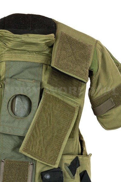 Vest Cover Anti-Riot Without Inserts Bundeswehr Oliv Original Used