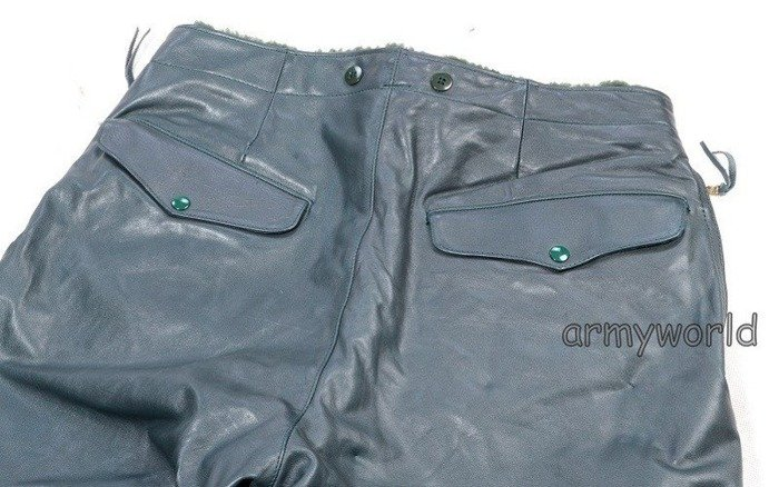 Warmed Leather Trousers Bundeswehr Original Demobil SecondHand