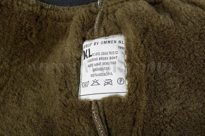 Warming Trouser Liner Military Dutch With Fur Original Demobil Set of 10 Pieces