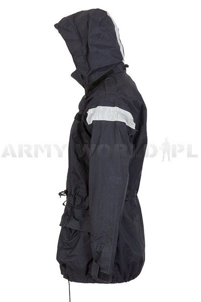 Waterproof Jacket Smock Foul Weather British Army Navy Blue Used