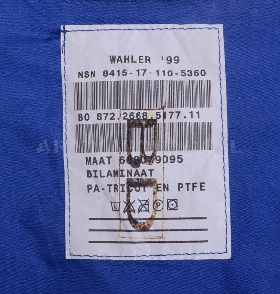 Waterproof Liner Military Dutch Navy Blue Original Used