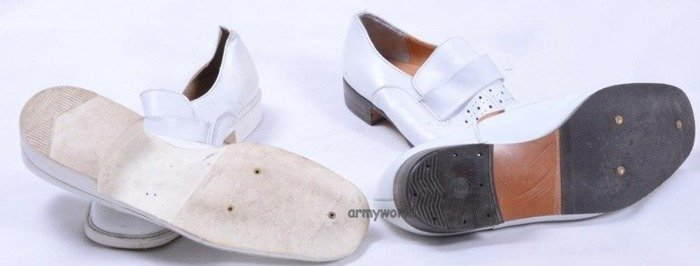 White Gala Shoes Bundeswehr Original Demobil Bright Soles