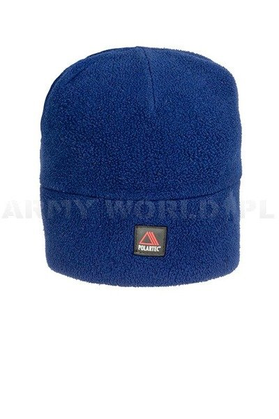 Winter Fleece Cap Polartec Navy Blue Used
