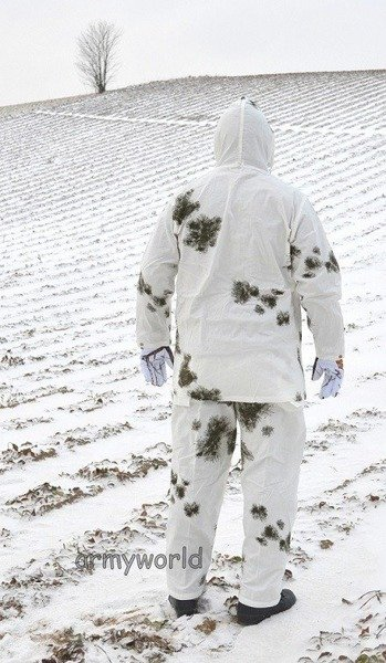 Winter maskink clothes MFH snow camouflage set Shirt + Pants New