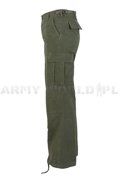 Women's Cargo Pants Model US Ripstop Oliv Mil-tec New