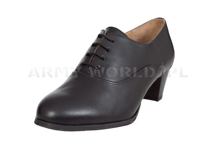 Women's Leather Shoes Bundeswehr Black Original New