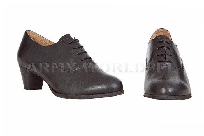 Women's Leather Shoes Bundeswehr Black Original Used