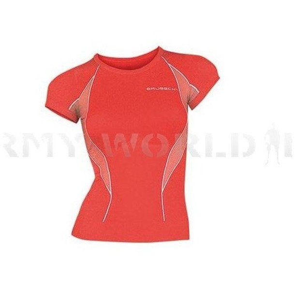 Women's T-shirt Short Sleeve Brubeck Fit Balace Red New SALE