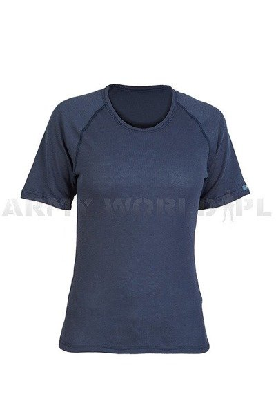 Women's sport thermoactive T-shirt ODLO WARM Dark blue Original New