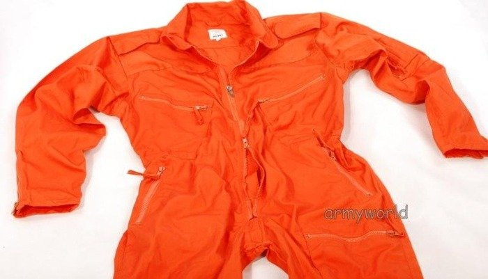 Work Overalls Military Dutch Orange Original Demobil