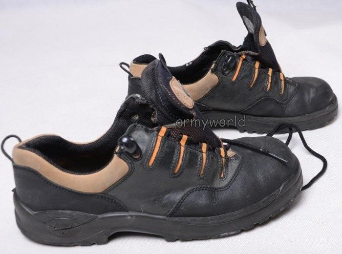 Working Boots Baltes Black Metal Tips Demobil
