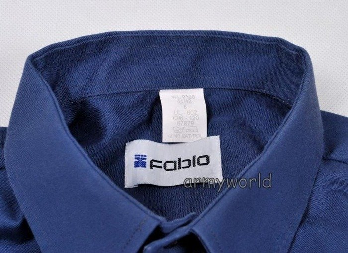 Working Shirt NATO Long Sleeves Blue Original Demobil