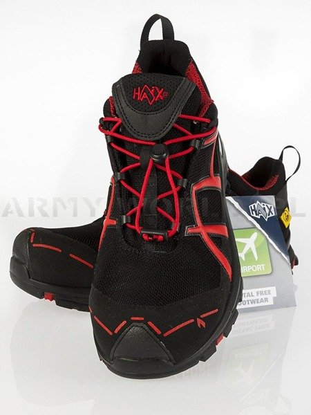 Workwear Boots Haix ® BLACK EAGLE Safety 40 Low Gore-tex  Black/Red Art. Nr :610002 II Quality New