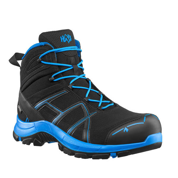 Workwear Boots Haix ® BLACK EAGLE Safety 40 Mid Gore-tex  Black/Blue Art. Nr :610015 II Quality New