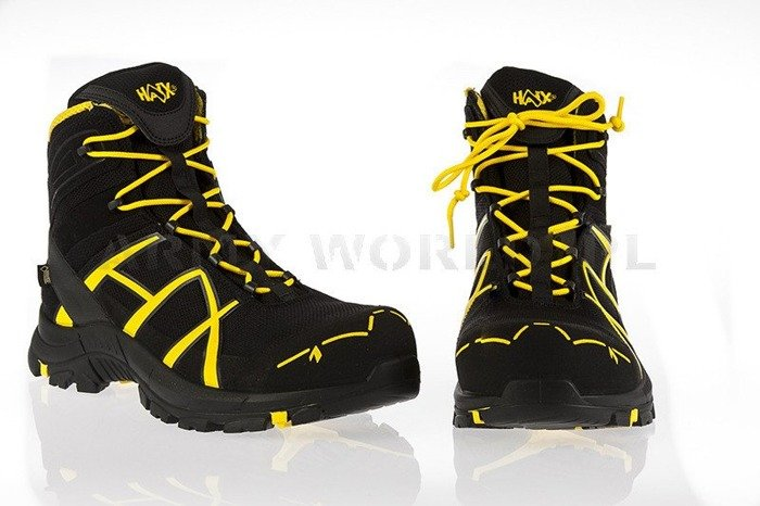 Workwear Boots Haix ® BLACK EAGLE Safety 40 Mid Gore-tex  Black/Yellow Art. Nr :610016 II Quality New