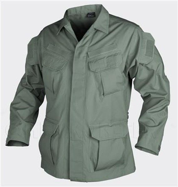 shirt Special Forces Uniform SFU Helikon-tex Ripstop Oliv Drab