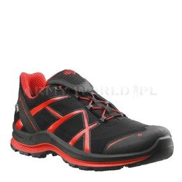Buty Outdoorowe Black Eagle Adventure 2.0 Low Haix ® Art. Nr 330022 Gore-tex Czarno-Czerwone