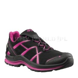 Buty Outdoorowe Damskie Black Eagle Adventure 2.0 Low Haix ® Art. Nr. 330026 Gore-tex Czarno-Purpurowe
