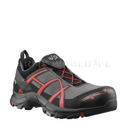 Buty Robocze Haix ® BLACK EAGLE Safety 40 Low Gore-tex  Grey/Red Art.610011 Nowe - III Gatunek