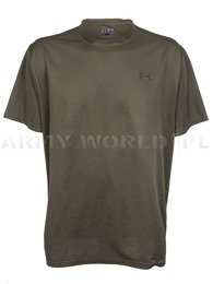 T-shirt Termoaktywny Under Armour Loose Oliv Oryginał Demobil