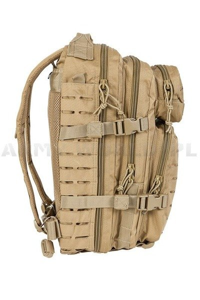 Plecak Model US Assault Pack SM LASER CUT Coyote Nowy