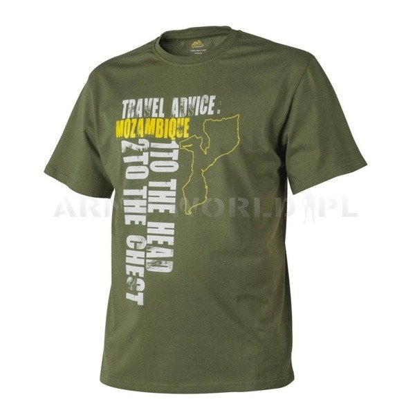 T-shirt Helikon-Tex Travel Advice: Mozambique U.S. Green Nowy
