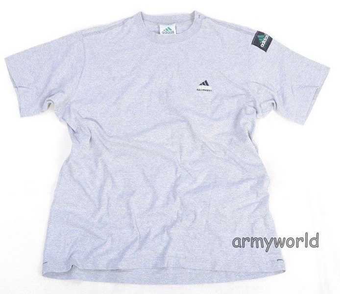 T-shirt Sportowy ADIDAS Equipment Szary Demobil