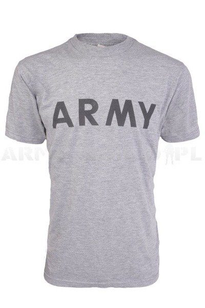 T-shirt Wojskowy US Army FITNESS UNIFORM Szary Demobil