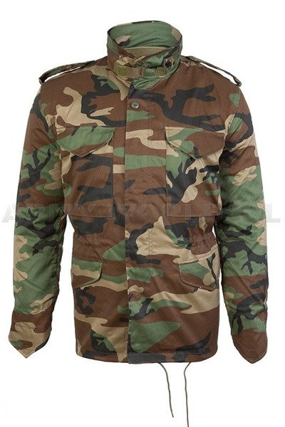 Field Jacket With Liner Model M65 Black Mil-tec New woodland ... 2dd5b3602a4