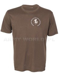 Thermoactive T-shirt Coolmax With Print The Queens Gurkha Engineers Brown Original Used