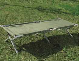 Aluminum Camp Bed / Cot Foldable Mil-tec Used