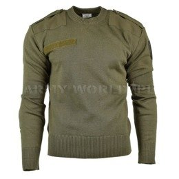 Austrian Woolen Sweater Oliv Original Demobil