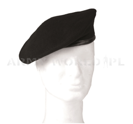 Black Military Beret Mil-tec Original New
