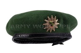 Bundespolizei Beret With Coat Of Arms Of Saxony-Anhaltu Green Genuine Military Surplus New