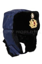 Bundespolizei Ushanka Cap With Coat Of Arms Of Saxony-Anhaltu Navy Genuine Military Surplus New