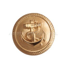 Button Of Navy Forces 25N Gold Military Surplus New