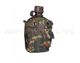 Canteen with CaseFlecktarn 1 Liter Mil-tec New