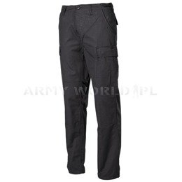 Cargo Pants BDU Ripstop MFH Black New